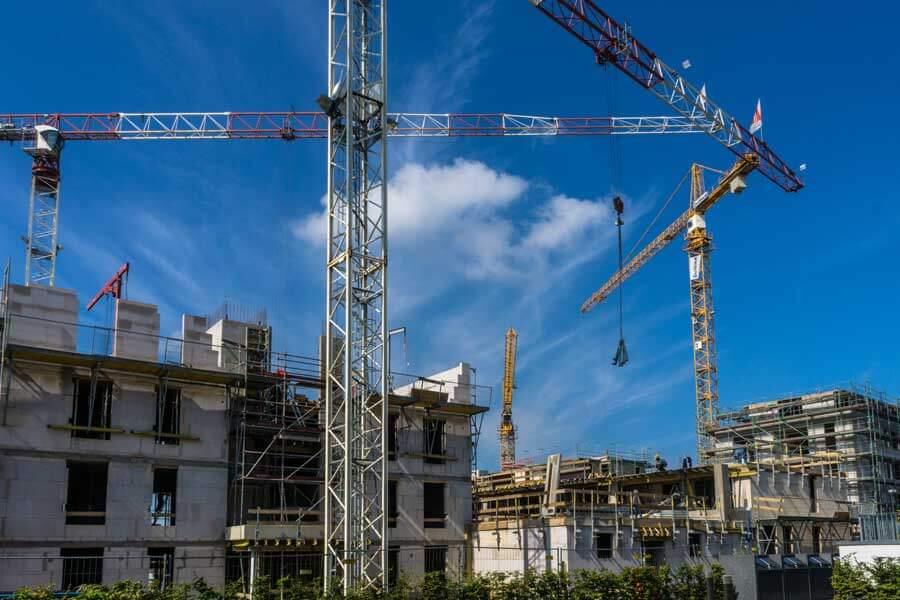 Ansicht einer Baustelle